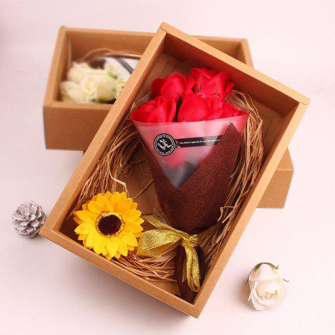 Shops Flower Bouquet 7pcs Scented Soap Roses Gift Box Valentine's Present