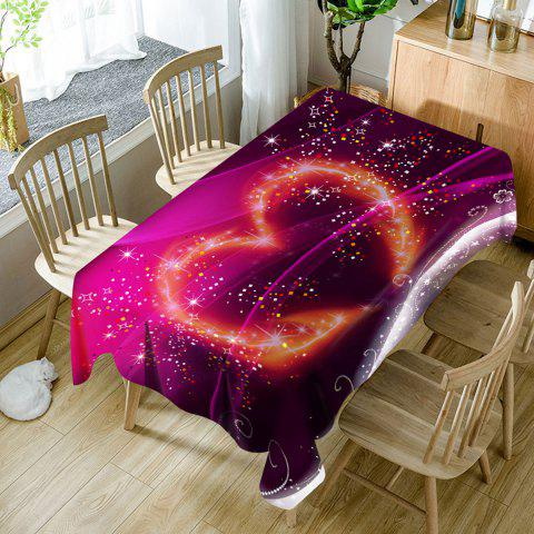 Fancy Valentine's Day Sparkling Heart Printed Waterproof Table Cloth