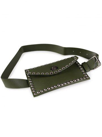 Cheap Vintage Mini Rivet Bag Embellished Faux Leather Belt