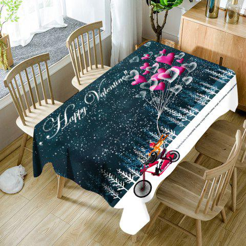 Buy Happy Valentine's Day Graphic Waterproof Fabric Table Cloth