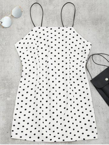 Buy Polka Dot Mini Spaghetti Strap Dress