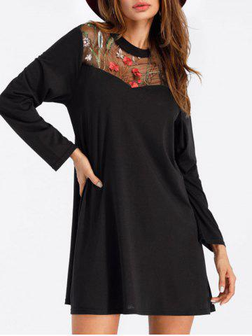 Fashion Embroidered Mini Tee Dress
