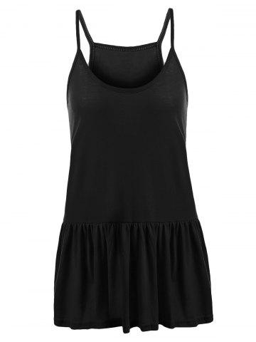 Affordable Casual Plus Size Frilly Tank Top