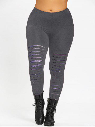 Best Plus Size Ripped Galaxy Leggings