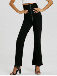 Zip Up Corset Flare Pants -