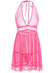 See Through Mesh Babydoll -