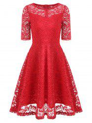Vintage Lace Fit and Flare Dress -