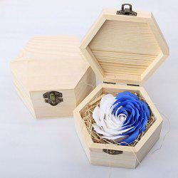 Hand-carved Soap Rose Scented Gift-set In Decorative Wood Case -