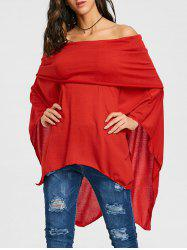 Asymétrique Off The Poncho Tricot -