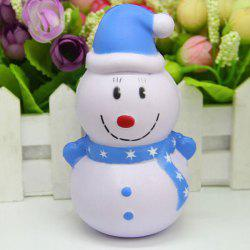 Slow Recovery Smiling Snowman Squeeze Stress Reliever Toy -