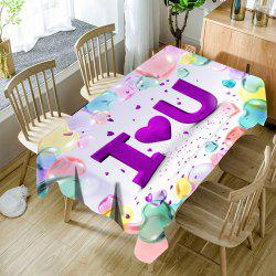 Valentine's Day I Heart U Print Waterproof Table Cloth -
