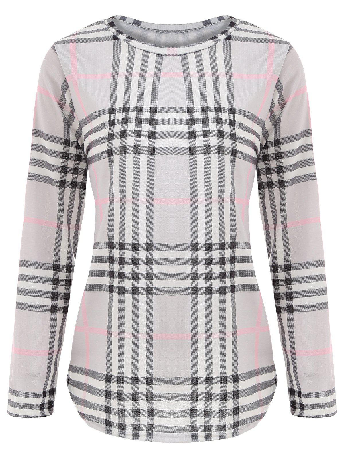 Outfits Plaid Tunic Tee