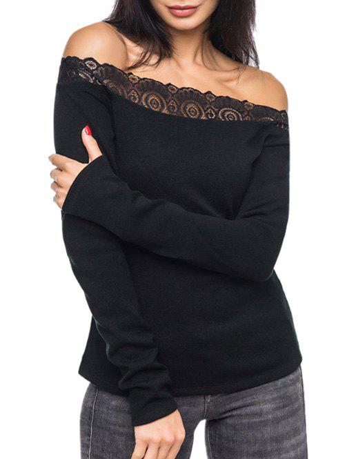 Fancy Off The Shoulder Lace Panel T-shirt