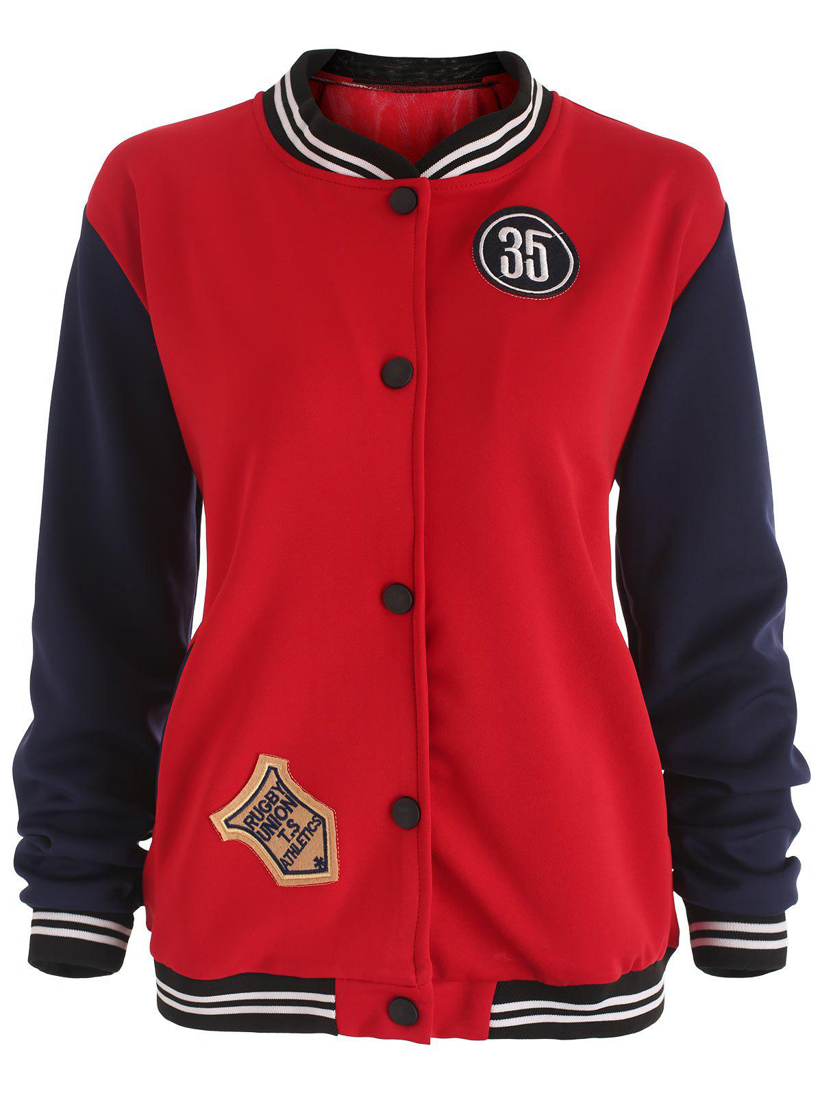 Fancy Patches Baseball Jacket