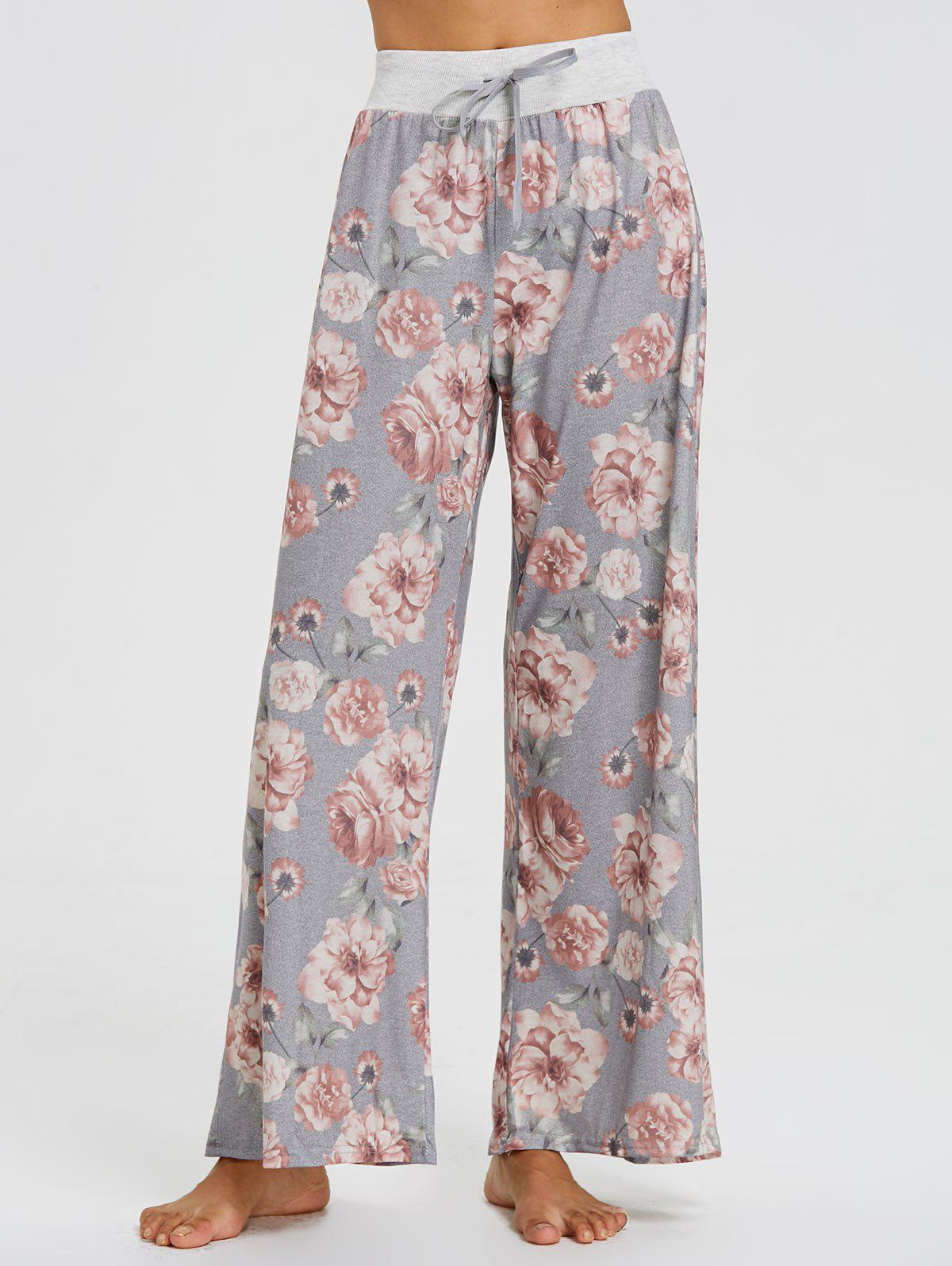 Chic Floral High Waisted Palazzo Pants