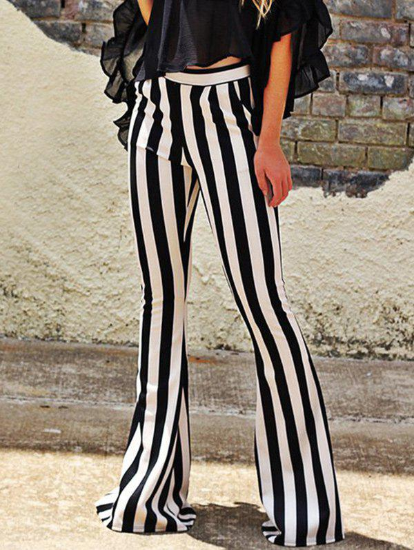 Cheap Striped Maxi Bell Bottom Pants