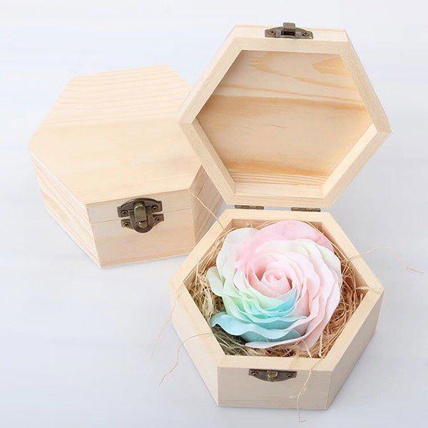Online Hand-carved Soap Rose Scented Gift-set In Decorative Wood Case