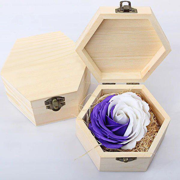Affordable Hand-carved Soap Rose Scented Gift-set In Decorative Wood Case