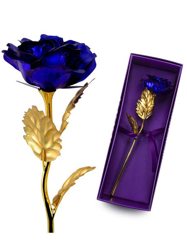 Cheap Valentine's Day Artificial Plated Rose Flower In A Box