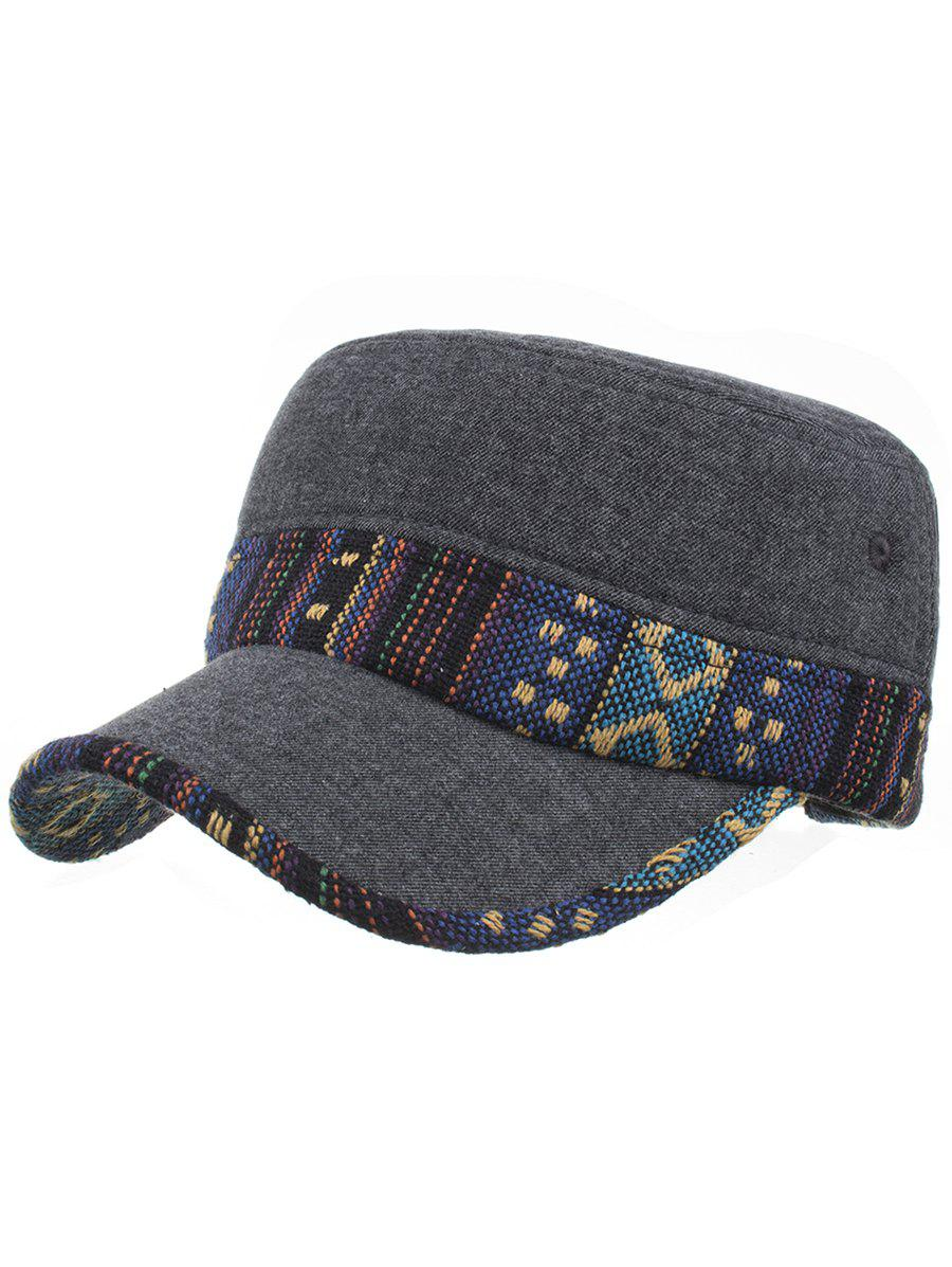 Best Vintage Ethnic Style Pattern Flat Top Hat