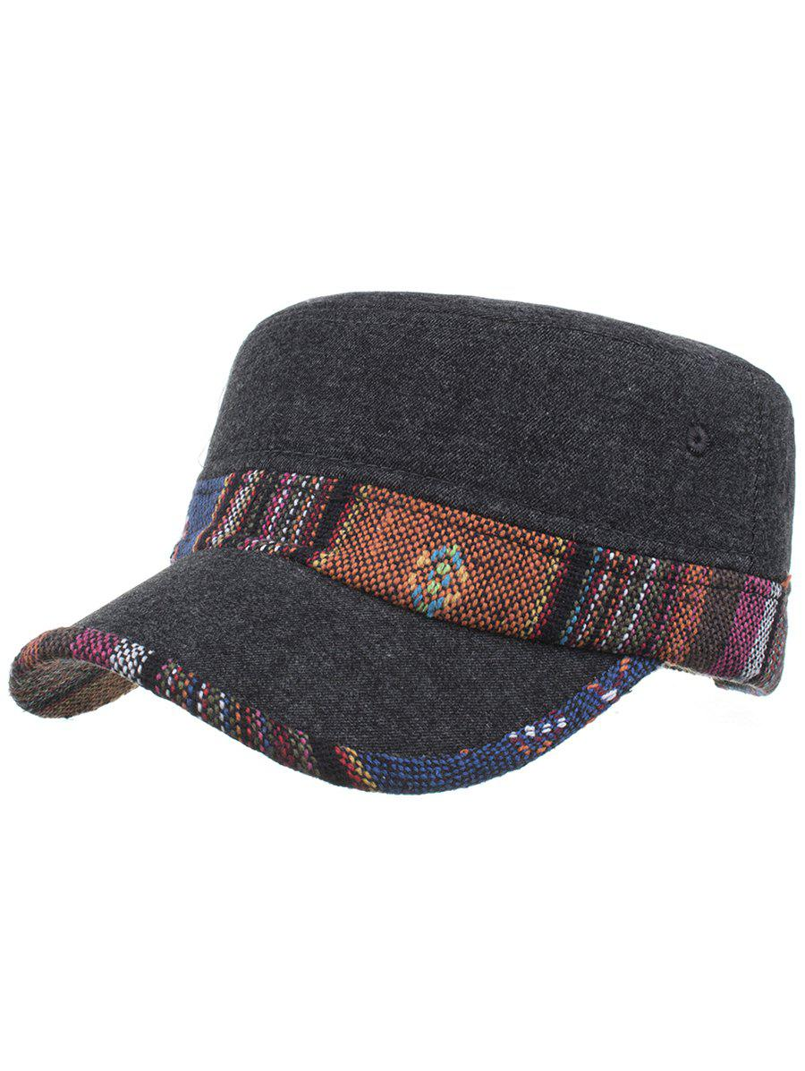 Discount Vintage Ethnic Style Pattern Flat Top Hat