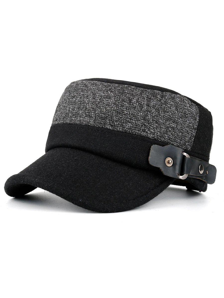 Online Simple Flat Top Button Military Hat