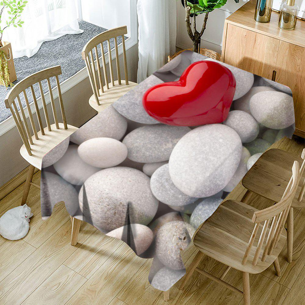 Pebbles Love Heart Imprimé tissu de table imperméable