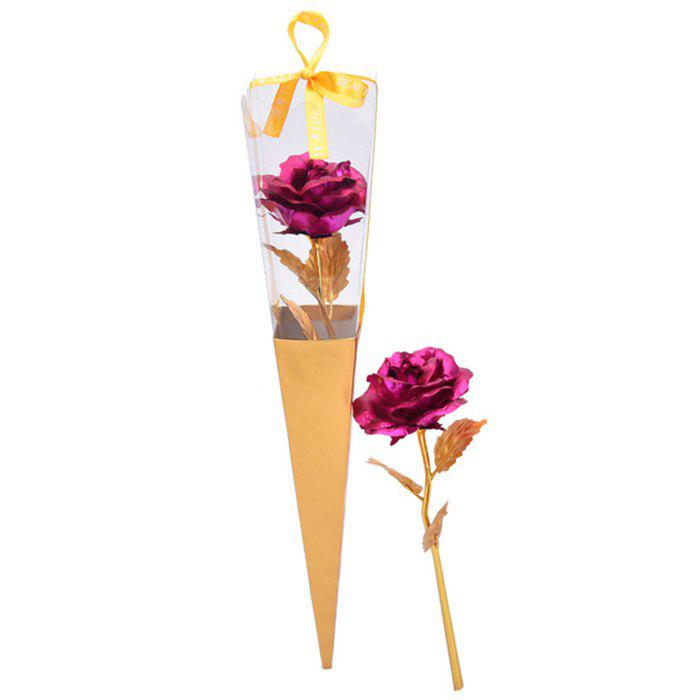 Online Artificial Plated Rose Flower Valentine's Day Gift