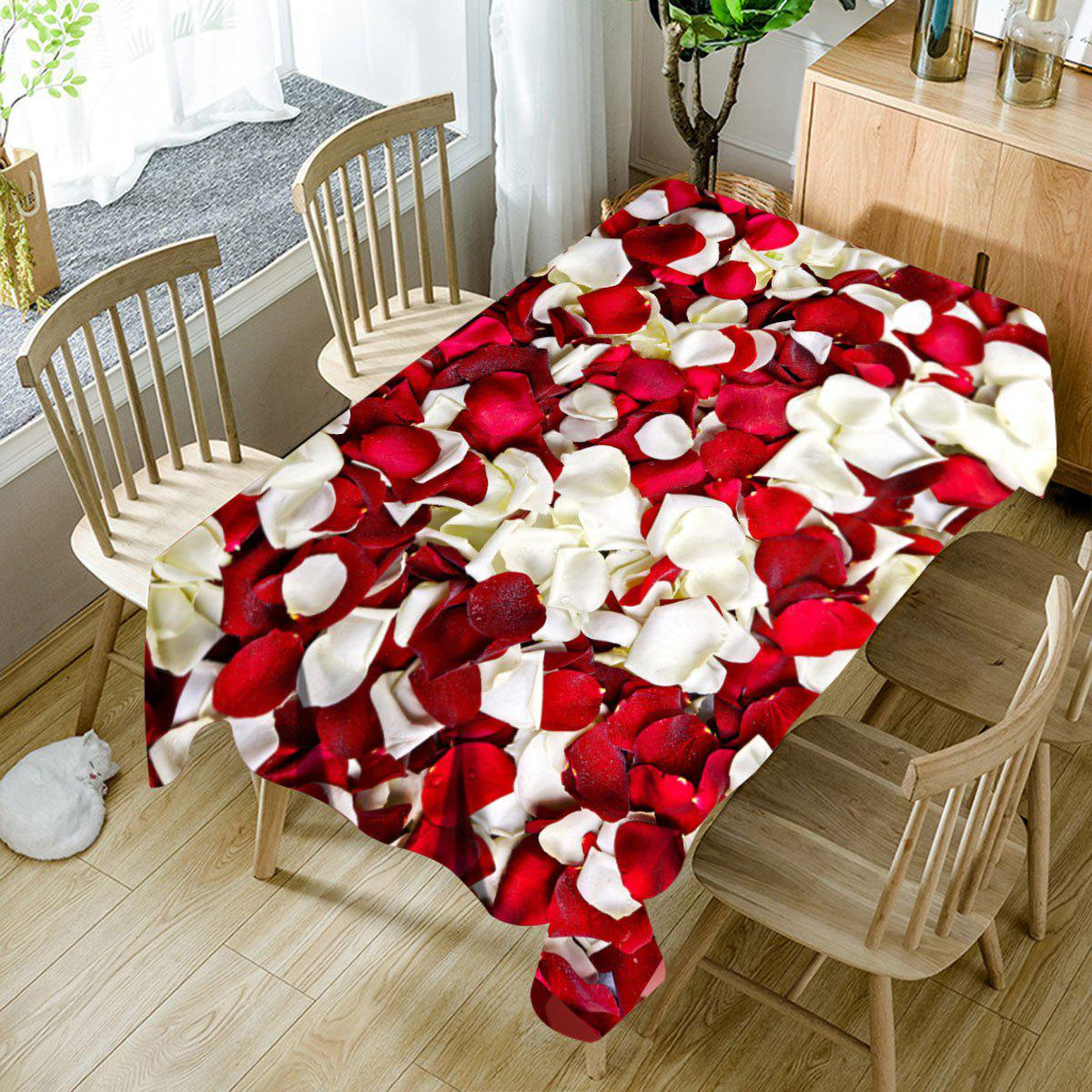 Fancy Valentine's Day Petals Pattern Waterproof Table Cloth