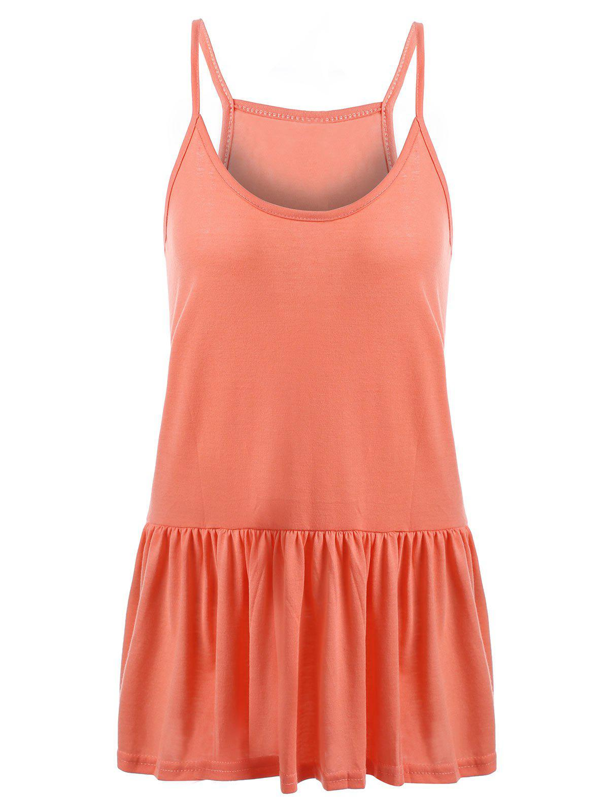 Outfit Casual Plus Size Frilly Tank Top
