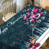 Nappe de Table Imperméable Motif Graphique et Inscription Happy Valentine's Day -