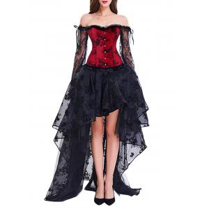 Corset Top with High Low Skirt -