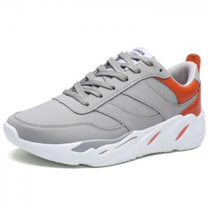 Contrasting Color PU Leather Casual Shoes - GRAY Discount Very Cheap 7OvBB9bRWV