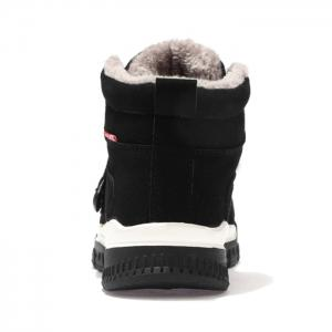 Hook and Loop Plush Lining Snow Boots -