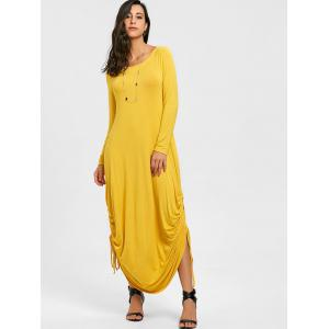 Drawstring Jersey Cocoon Maxi Dress -