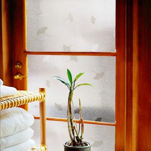 Ginkgo Leaf Pattern Window Film Sticker One Roll -