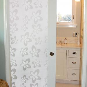 Handpainted Flower Pattern Window Film Sticker One Roll -