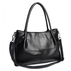 Faux Leather 2 Pieces Handbag Set -