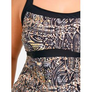 Plus Size Tribal Tankini Top and Skirt Swimsuit -