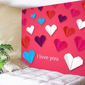 Valentine's Day Heart Paper Plane Pattern Wall Hanging Tapestry -