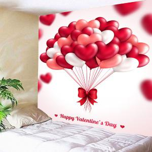 Valentine's Day Heart Balloon Pattern Hanging Tapestry -