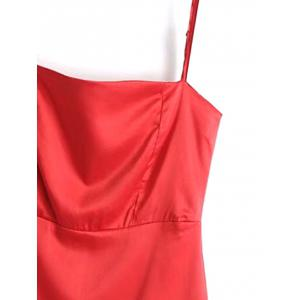 Satin Back Zip Slip Mini Dress -
