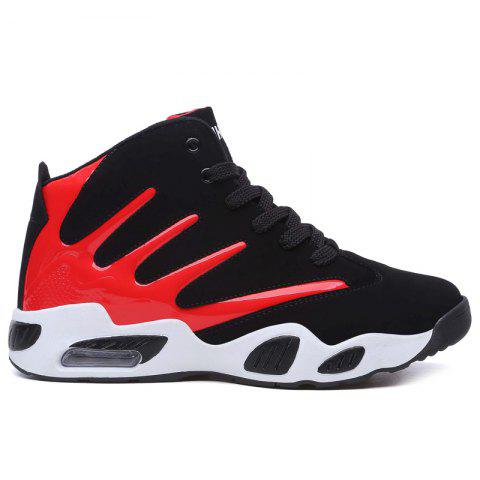 Rosegal Color Block Casual Breathable Basketball Shoes Red 44