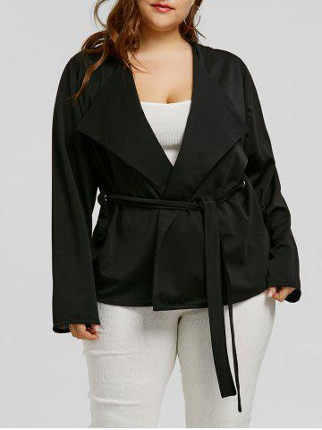 Shops Plus Size Belted Short Coat