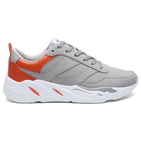 Hot Contrasting Color PU Leather Casual Shoes
