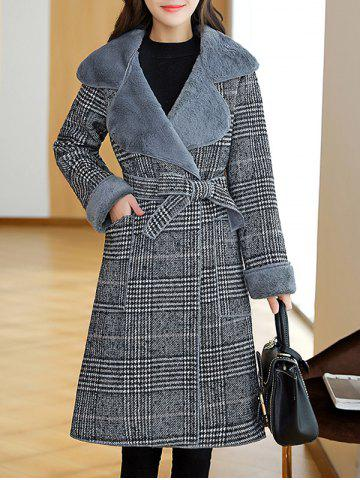 Best Lapel Plaid Wrap Coat