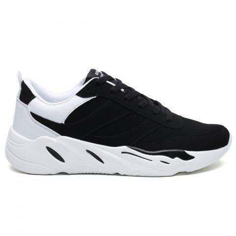 Contrasting Color PU Leather Casual Shoes