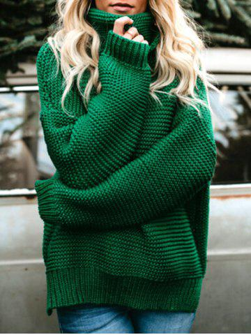 Store Turtleneck Drop Shoulder Chunky Sweater