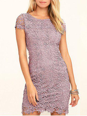 Cheap Lace Back Cut Out Bodycon Dress