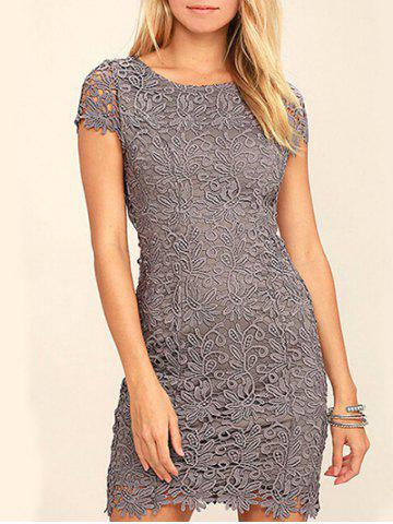 Fancy Lace Back Cut Out Bodycon Dress